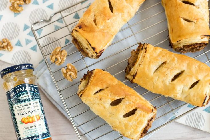 Apricot and Walnut Vegetarian Sausage Rolls - St Dalfour