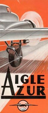 airline baggage labels -- Aigle Azur (1)