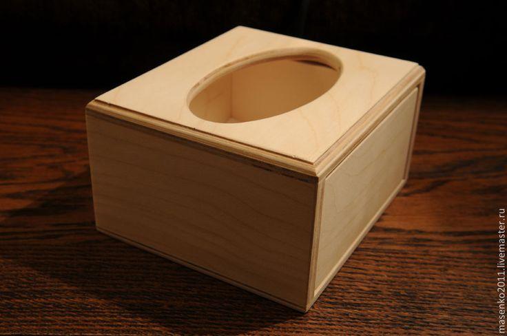 """Купить Заготовка для декупажа """"Коробка для салфеток """" - заготовки для декупажа, заготовка для декупажа, заготовка из дерева"""