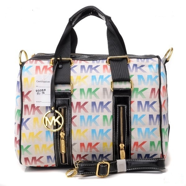 2012 Michael Kors Classic Tote Colourful White Outlet