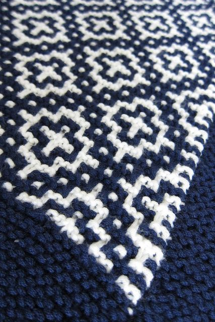 """welsh blanket via ravelry (planning to make this my next """"big"""" knitting project)"""