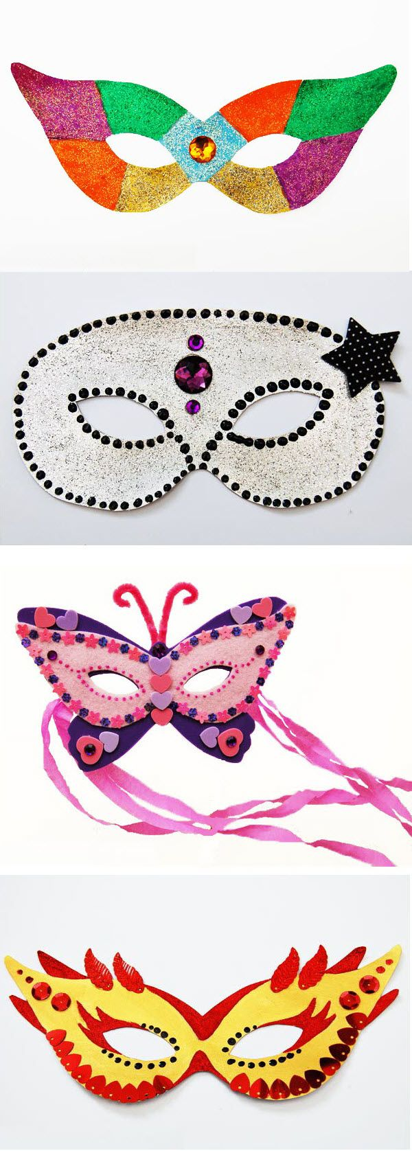 FREE DIY PDF printable print and cut masks butterfly, venetian, superhero,