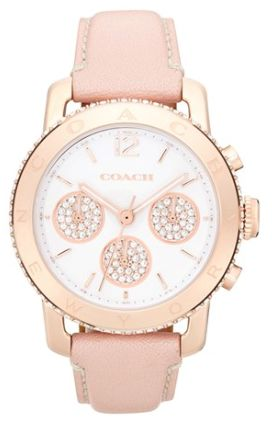 #coach leather strap watch  http://rstyle.me/n/mnsanpdpe Rose gold <3 Just wish I could actually wear watches!