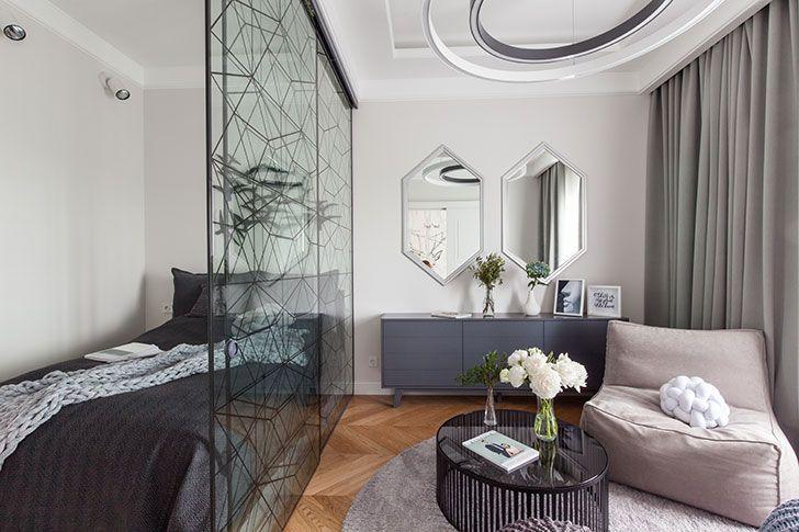 Удобная современная квартира для молодой девушки в центре Санкт-Петербурга (48 кв. м) | Пуфик - блог о дизайне интерьера