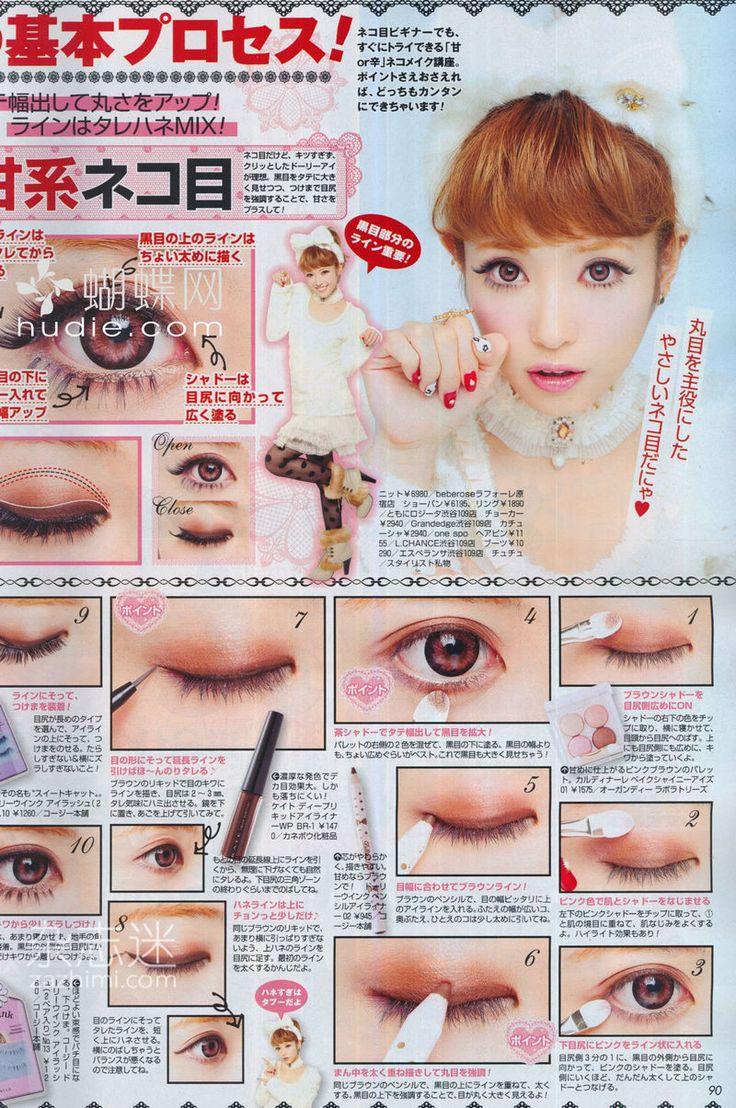Gyaru Magazine Makeup Tutorial.