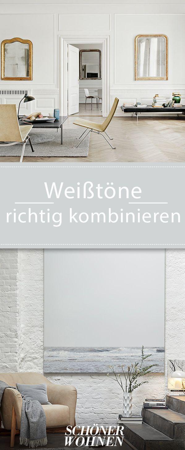 Wir Zeigen Wie Man Mit Weisstonen Experimentiert Wohnen Weiss Farbe Wohnen Innenarchitektur Schoner Wohnen