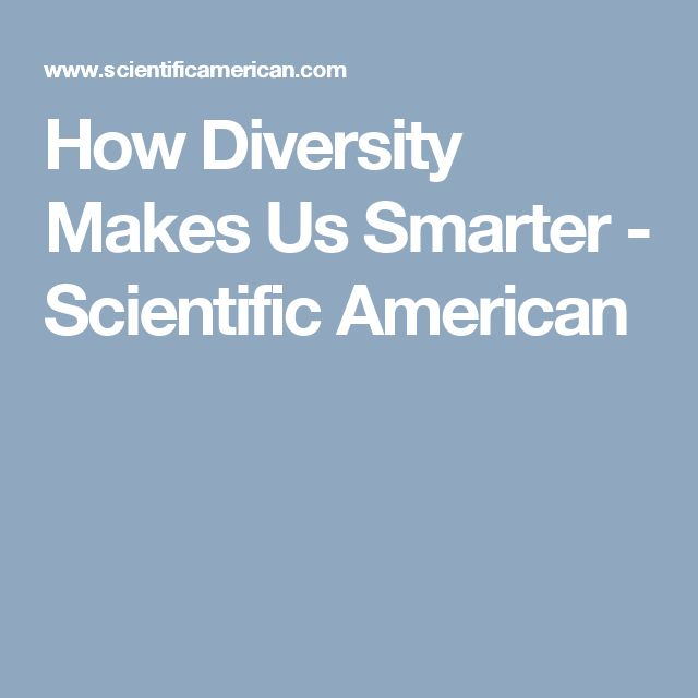 how diversity makes us smarter scientific american - 640×640