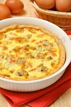 Пирог с лососем и сыром (киш лорен) (форели или семги)