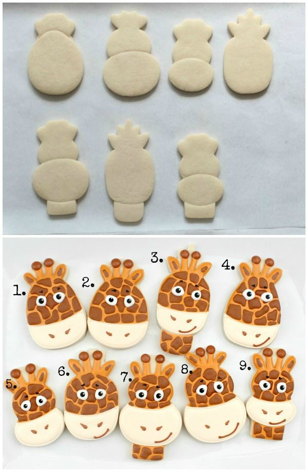 creative giraffe face cookies #diy #crafts www.BlueRainbowDesign.com @Danielle Lampert Lampert Pickering Maybe for Micah's first birthday :)