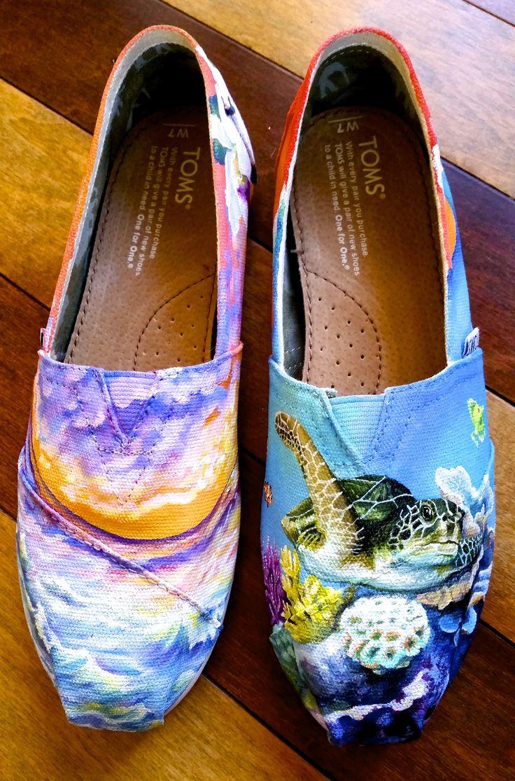 Ocean Life Whale Seastar Fish Turtle Women's Casual Shoes Sneakers Flat Slip Nursing Simple