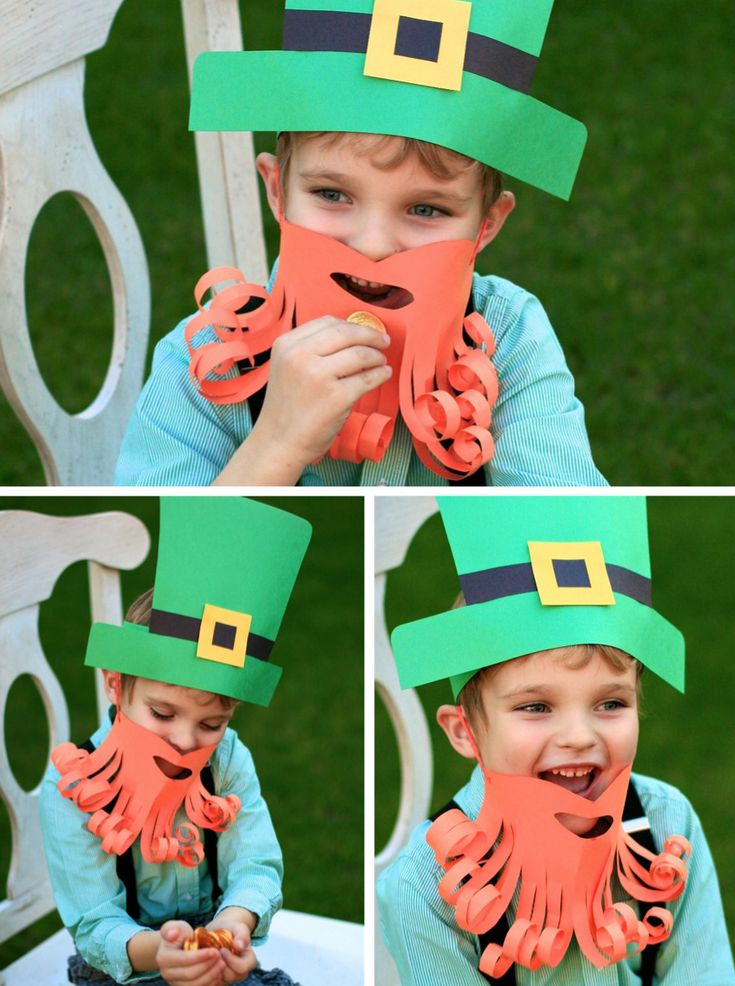 """St. Patrick's Day """"Simple Leprechaun Dress Up"""" directions and templates from SuperMomMoments.com."""