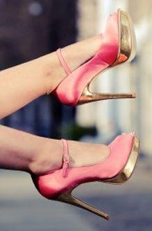 high heels #pink #hot #gold
