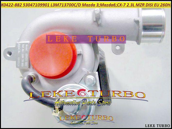 K0422-882 53047109901 L3M713700C L3M713700D Turbo Turbocharger For Mazda 3 For Mazda 6 CX-7 2005-2010 2.3L MZR DISI EU 260HP #Affiliate