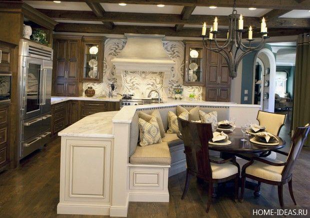 Романтическая обстановка на кухне