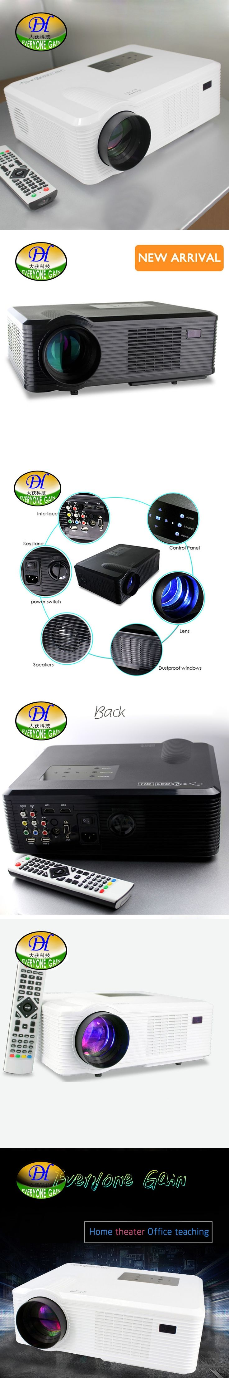 Everyone Gain TL261+ 3D LCD Projector Full HD Widescreen Home Theater Proyector 50000hs lamp life Support 720P 1080P LED Beamer