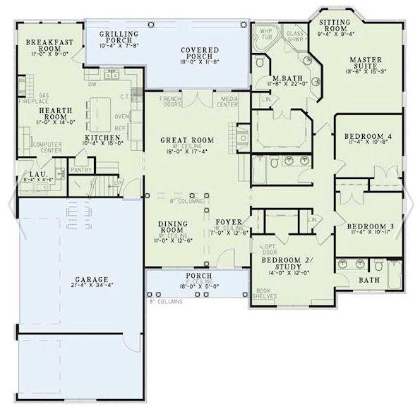 Planos de casas de 4 dormitorios en una planta buscar for Planos de casas pequenas de una planta