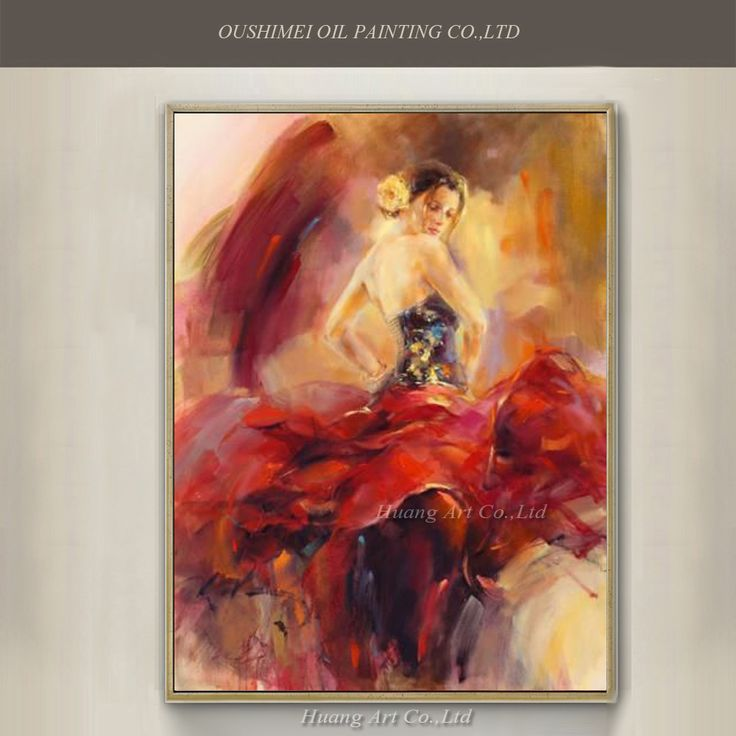 Hand-Painted-Spanish-Dancer-Oil-Painting-font-b-Handmade-b-font-font-b-Canvas-b-font.jpg (1000×1000)
