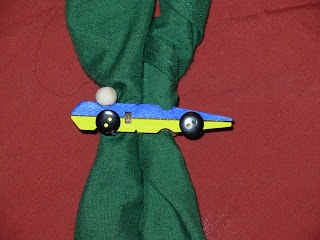 Pinewood Derby Neckerchief Slide (made from a clothespin!)