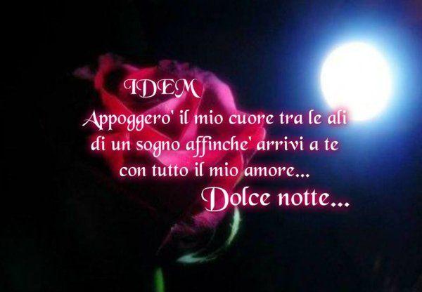 Immagini Buonanotte Amore Rosa Frase Bellissima Buonanotte