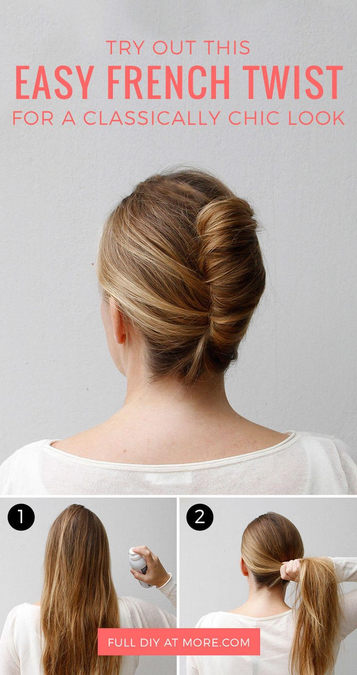 Go Classically Chic With This Easy French Twist | French twist hair, Easy french twist, Long ...