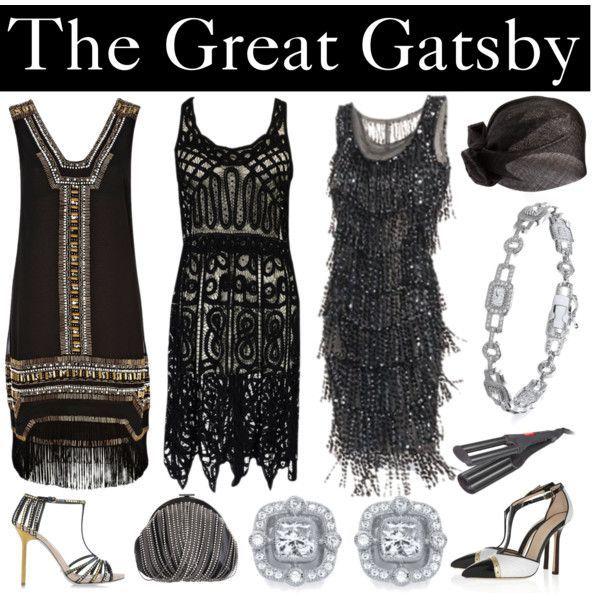 Gatsby 20s fashion inspiration - taking elements of fringing and sparkle