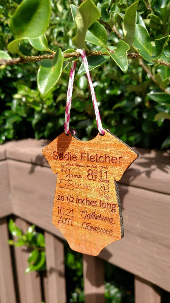 Baby Announcement / Baby Onesie Ornament / by BCsCraftyCreations