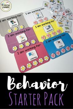"""Refresh your special education behavior tools for the new school year with these """"I am working for"""" boards that come in many colors! Match them to your classroom or color code them by student!"""