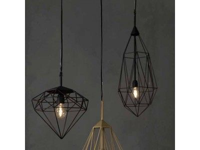 V I V & B L U E : hanglamp | zwart ijzer | via www.sooo.nl