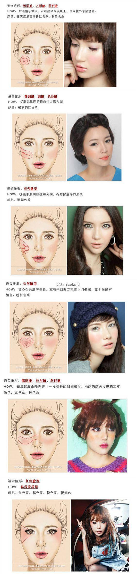 Blusher types for Korean make up