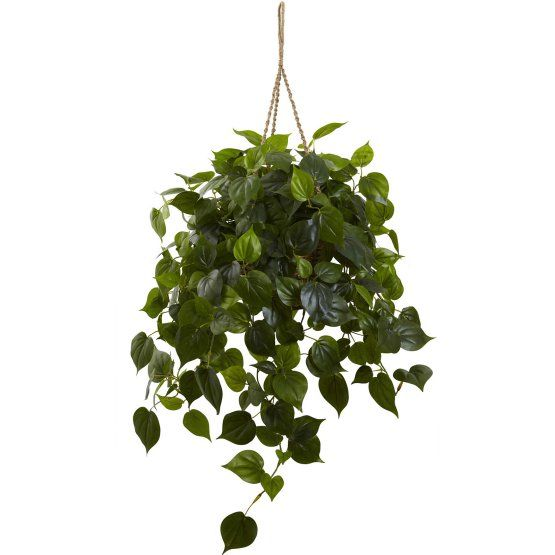 Nearly Natural Philodendron Hanging Silk Plant