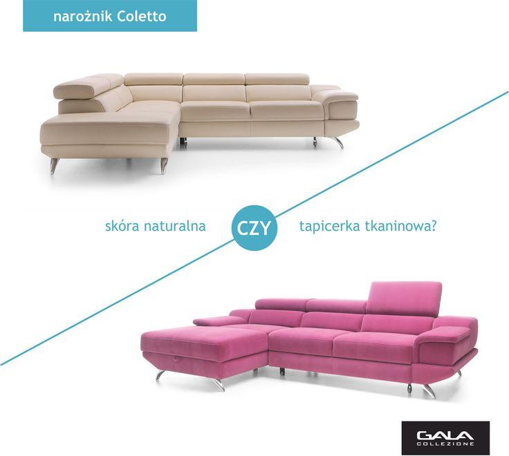 Ten sam mebel w różnym obiciu prezentuje się zupełnie inaczej. Skóra nadaje sofie elegancji, tapicerka tkaninowa sprawia wrażenie bardziej przytulnej i ciepłej. #GalaCollezione #meble #inspiracje #inspiration #sofa #narożnik #design #interiordesign