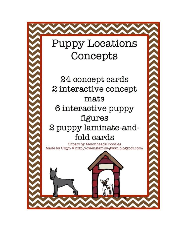 Preschool Printables: Free Puppy Locations Concepts