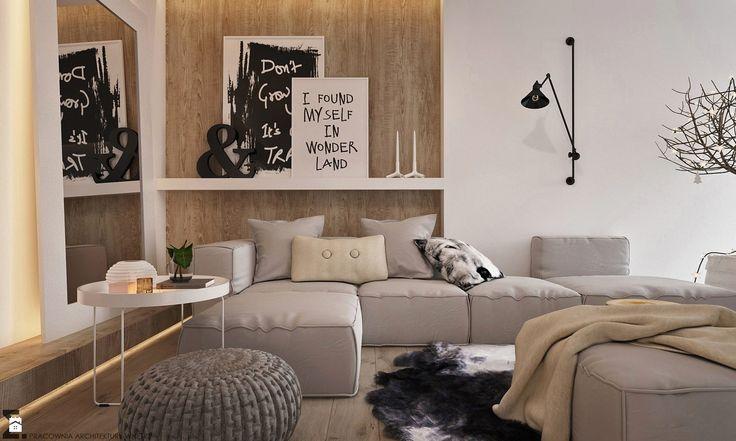 Salon styl Skandynawski - zdjęcie od ELEMENTY - Pracownia Architektury Wnętrz - Salon - Styl Skandynawski - ELEMENTY - Pracownia Architektury Wnętrz
