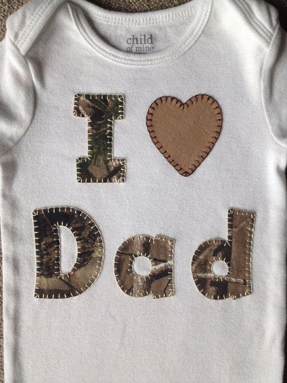 Realtree Camo I Love Dad Onesie $15  #Realtreecamo