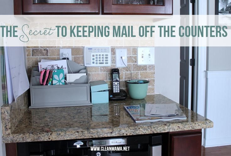 "Just say ""no"" to the piles of mail that accumulate so quickly! The Secret to Keeping Mail Off the Counters via Clean Mama"