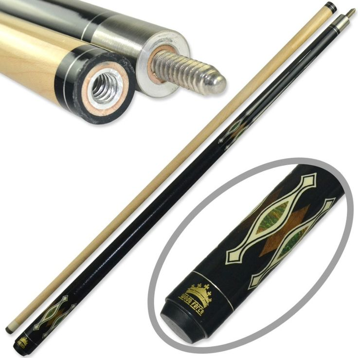 Cuesoul CSBK007 Special Price 58 inch Canadian Maple Wood 1/2 Jointed Pool Cue with 13mm Cue Tip