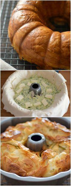Receta para preparar un rico pastel de espinacas y ricota, corteza de masa filo y horneado en un molde para bundt cake. Siempre hay una buena opción para incluir vegetales en nuestra comida.