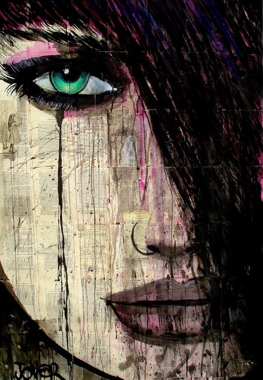 """Saatchi Online Artist: Loui Jover; Pen and Ink, Drawing """"chapter"""" This looks like every church bulletin I got when I was in highschool."""