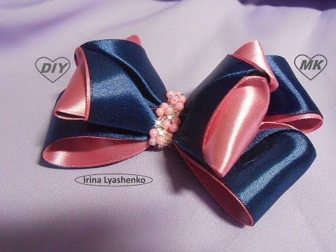 Бантики из атласных лент 3D МК/DIY Beautiful bow of satin ribbons/PAP Laço fitas de cetim#99 - YouTube