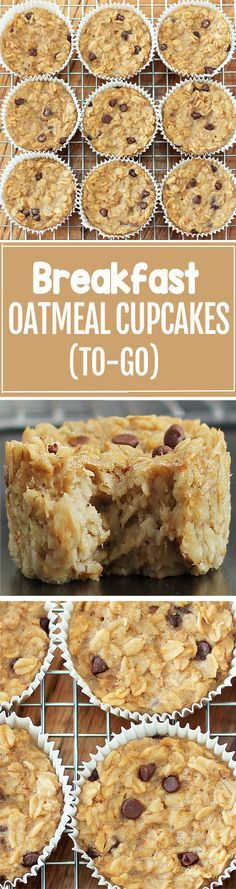 Cook just once, and you get breakfast for an entire month with these healthy baked oatmeal cupcakes