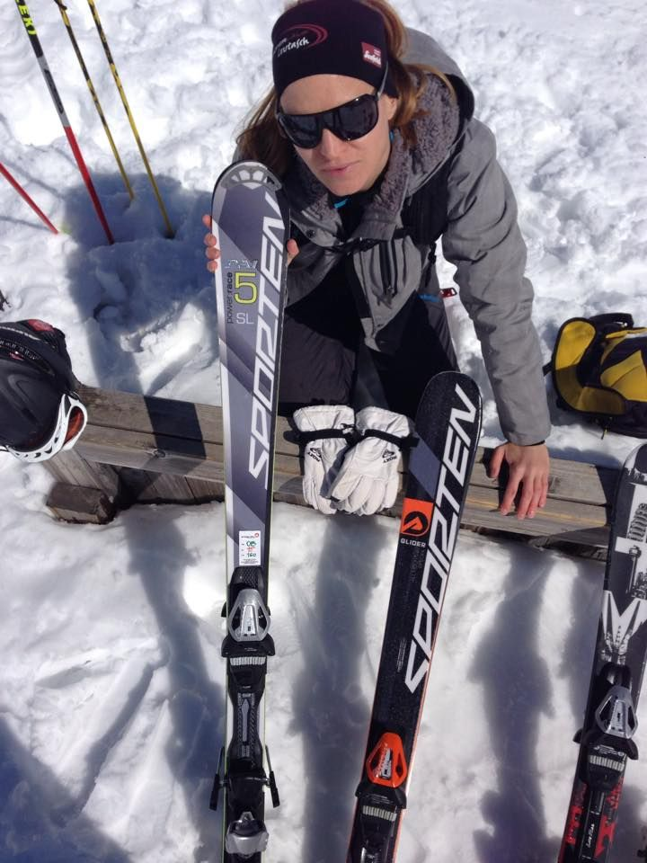 Vanda Koukalová and Sporten skis