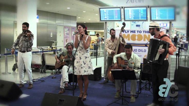 Οι Gadjo Dilo εμφανίστηκαν την Παρασκευή 19 Σεπτεμβρίου στο Διεθνή Αερολιμένα Αθηνών και μας ταξίδεψαν μέσα από Gypsy Jazz και Swing μελωδίες α λα ελληνικά. Περισσότερες πληροφορίες: http://www.elculture.gr/music/flymetothemoon-gadjodilo-924202  #music #art #culture