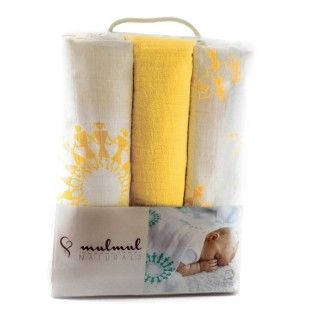 MulMul Wrap Set Warli Marigold - Yellow