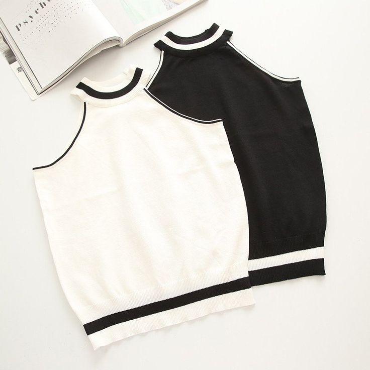 Black/White Night&Day Crop Top SP179068