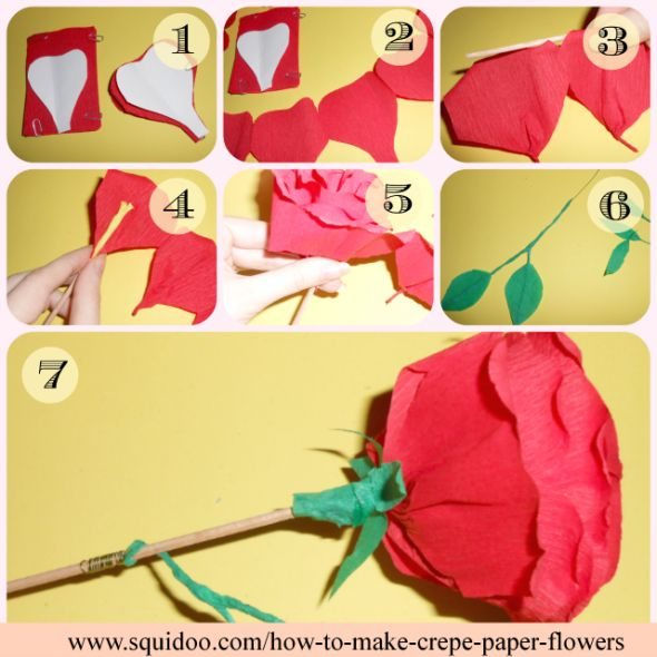 The 115 best crepe papers flowers images on pinterest crepe paper how to make crepe paper flowers mightylinksfo