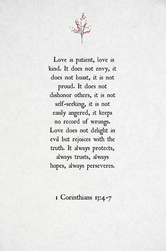1 corinthians 13:4-7                                                                                                                                                                                 More