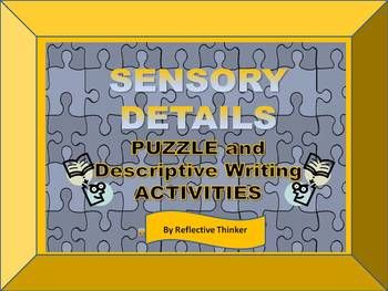 SENSORY DETAILS improve writing.  These engaging, descriptive writing lesson activities are Common Core Standards aligned and are appropriate for Grades 4-8.  The activities require students to categorize sensory details into categories that appeal to the various senses, which is sometimes a question on comprehensive, yearly test and which makes this a good test prep resource.