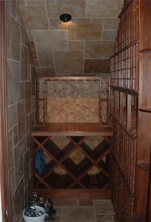 under stairs wine cellar...would love to do this!    Vista Wine Cellars - Showcase Custom Built Wine Cellars