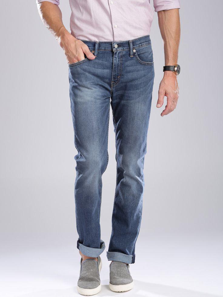 Levis Plain Slim Fit Blue Denim Jeans