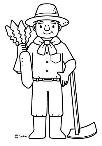 Agricultor para colorear – Dibujos Disney